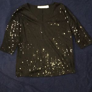 Sag Harbor Sequined Top